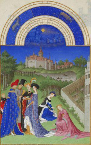 Obra dels germans Limbourg 'Les très riches heures du Duc de Berry (avril)'