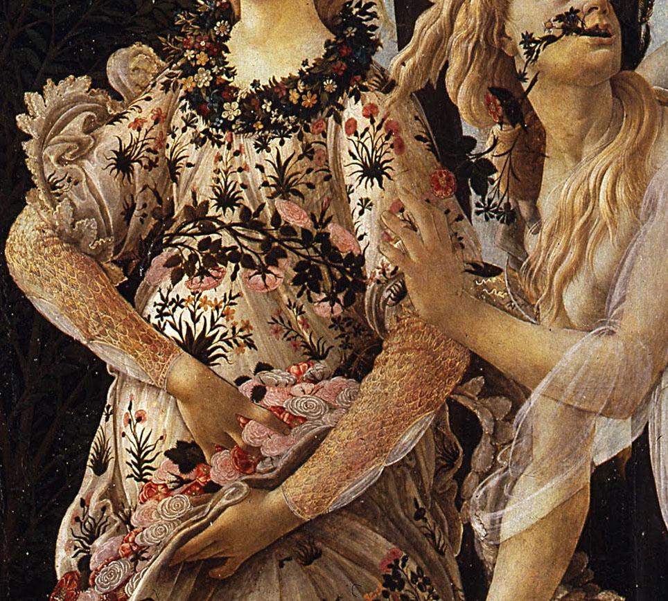 Detall de Flora de l'obra de Sandro Botticelli 'La Primavera'